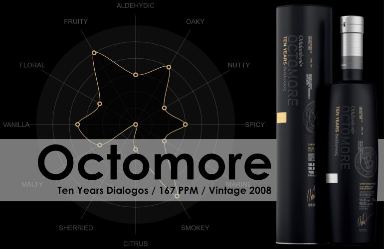 Bruichladdich Octomore Ten Years - Vintage 2008